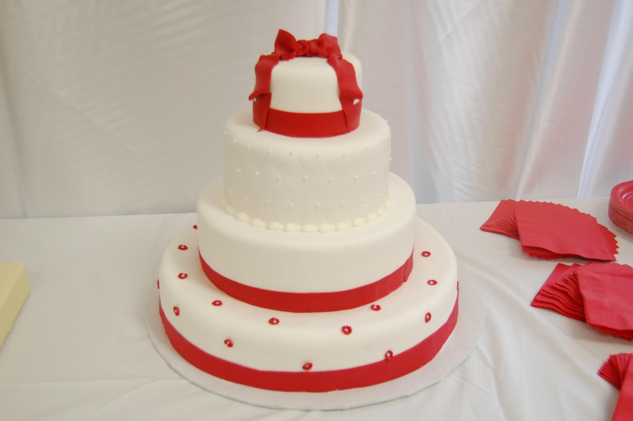 Red & White WeddingCake