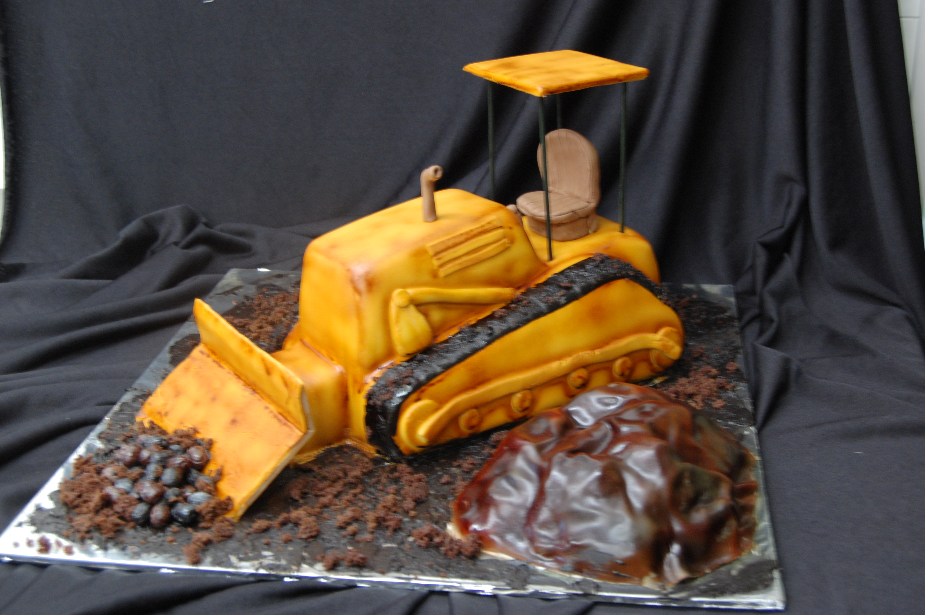 Strange Latest Cake 3D Sculpted Bulldozer Cake Lets Get Cooking Personalised Birthday Cards Beptaeletsinfo