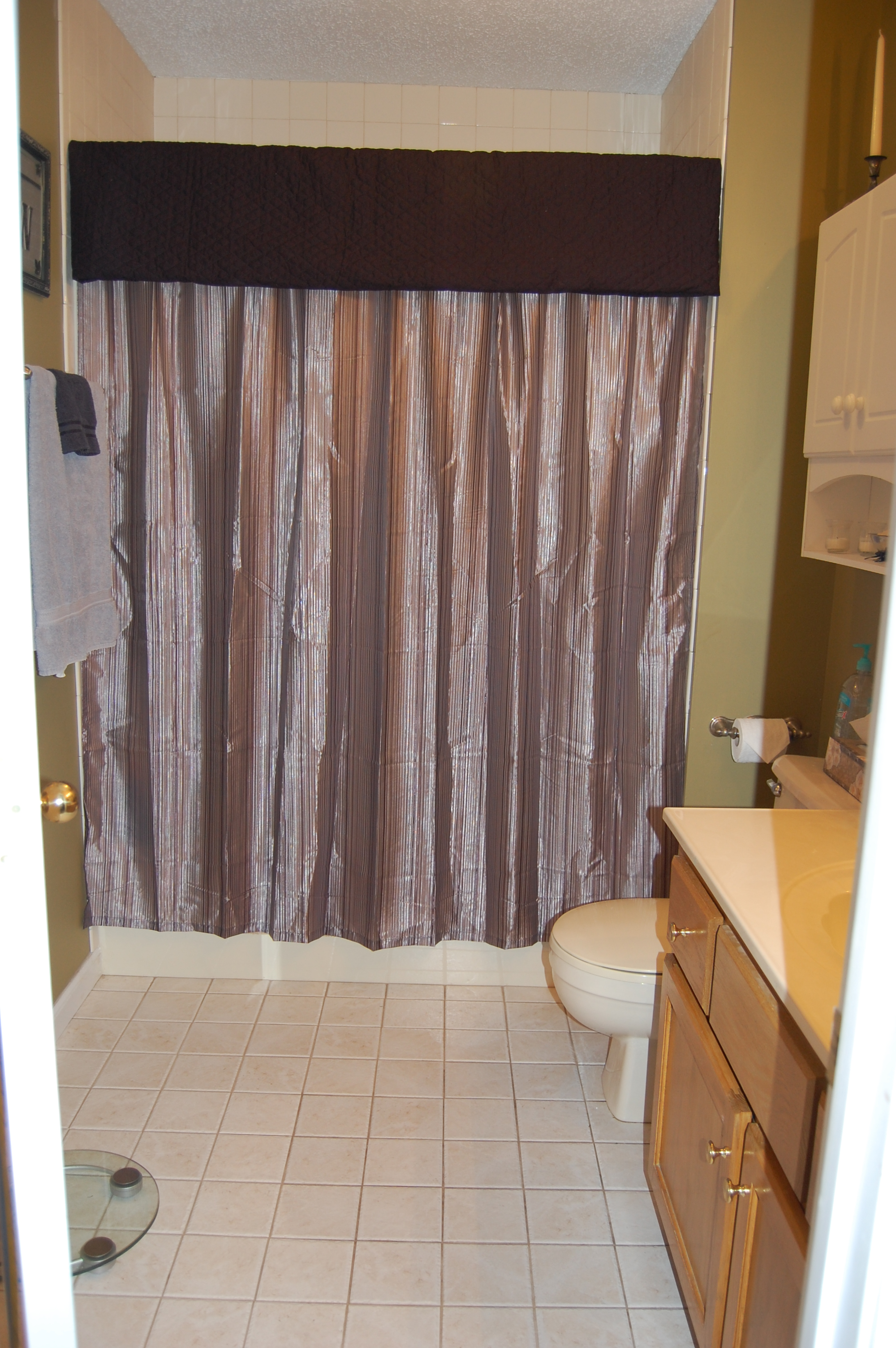 fabric pin tiebacks shower piece of valance curtain the with a or high ideas end curtains and is