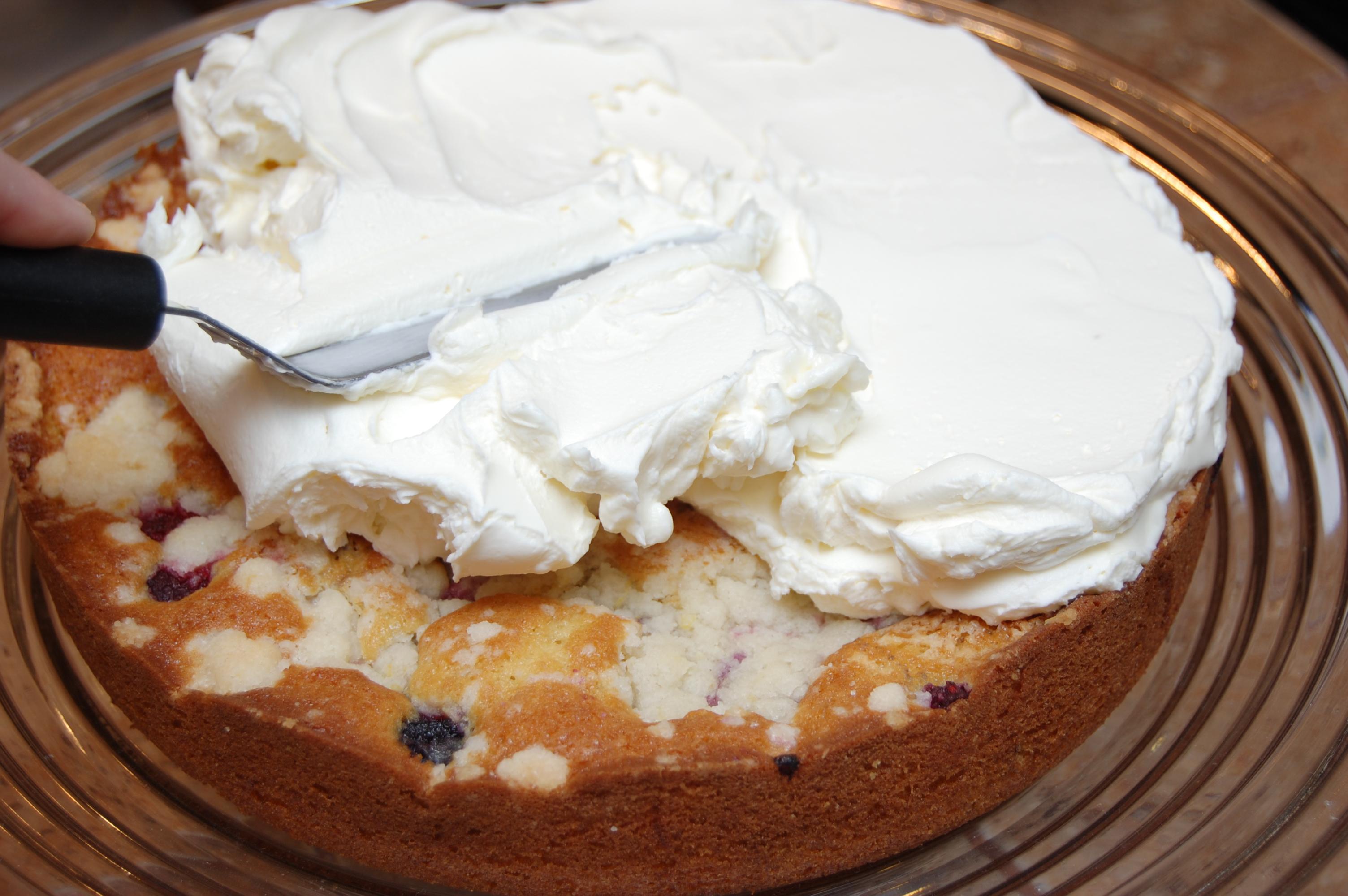 Торт с кремом из маскарпоне и сливок