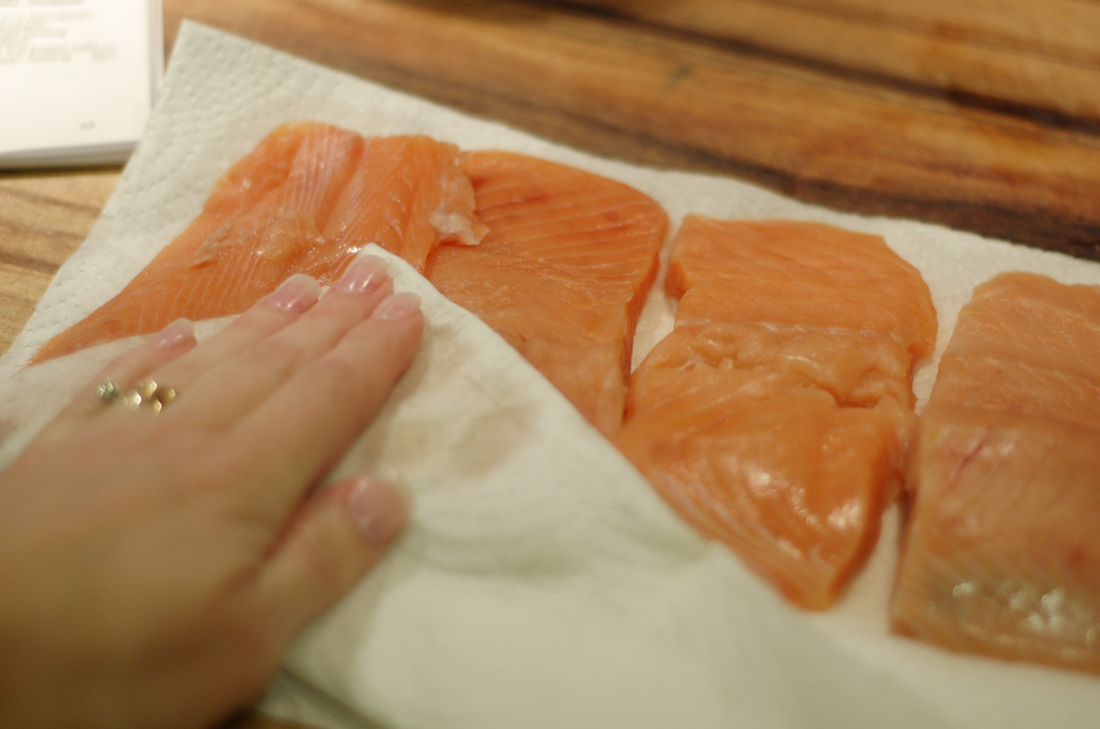 Bronzed salmon let 39 s get cooking for What saltwater fish are in season now