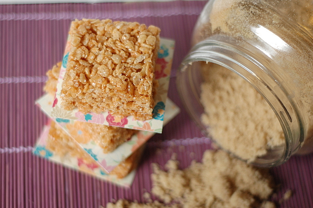 Browned Butter Salted Caramel Rice Crispy Treats